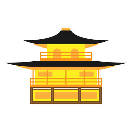 Kinkaku-ji temple vector. Kinkaku-ji is a Zen Buddhist temple in Kyoto, Japan.
