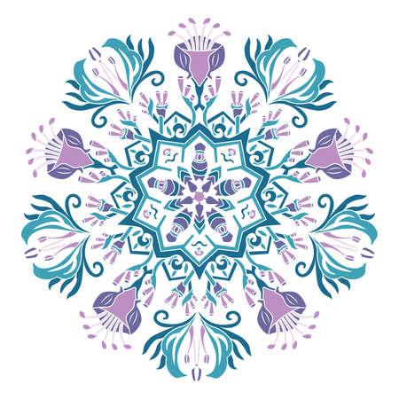 papouasie: Vecteur Motif Mandala Papouasie. Illustration