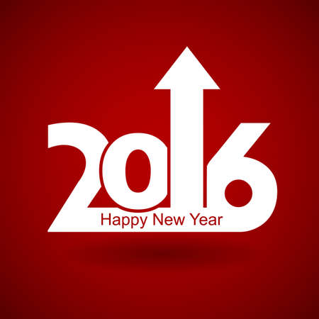 new Year: Happy New Year 2016 with arrow up , happy New Year and merry xmas concept.