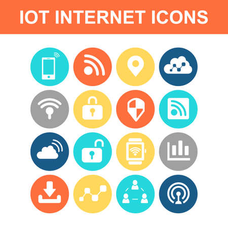 wireless icon: Internet of things icon set - Flat Series
