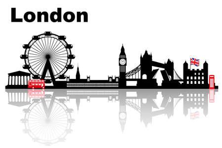 big: Horizonte de la ciudad de Londres, Reino Unido, Reino Unido