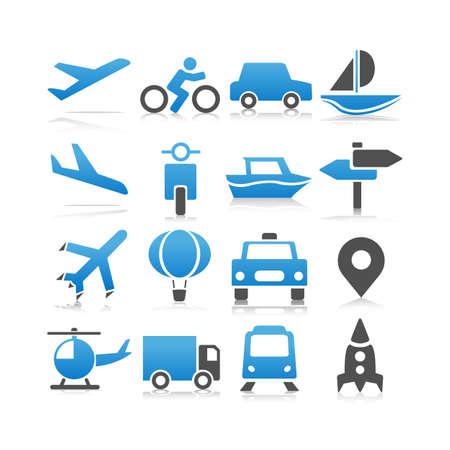 traffic: Transportation icons set - Flat Series