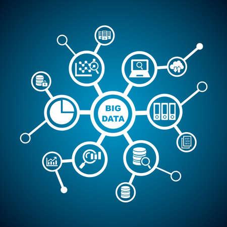 big: Gran concepto de datos - icono de datos conectar entre s�