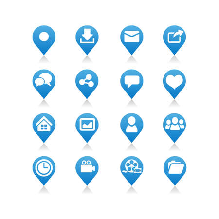 like button: Social media icon set - Flat Series