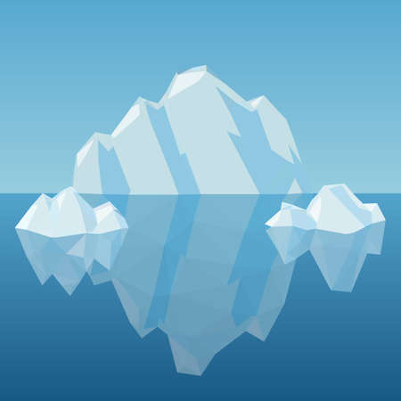 cold climate: Low Poly Iceberg, great for your design