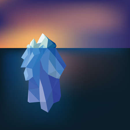 berg: Low Poly Iceberg, great for your design