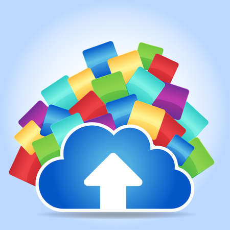 social system: cloud computing concept - cloud connect with empty APP icon, great for you design or app or icon.