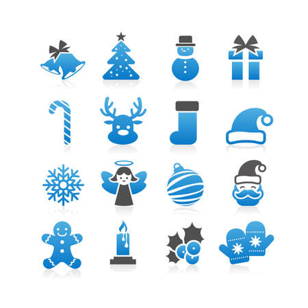 ice: Christmas Icon set - Flat Series