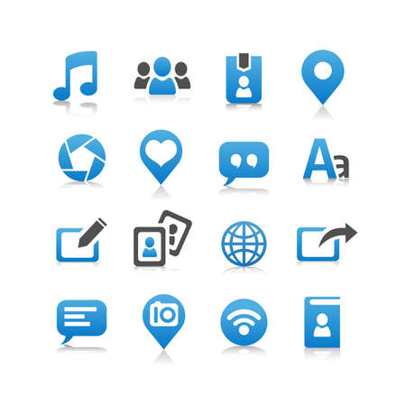 social media icon set: Social media icon set - Flat Series