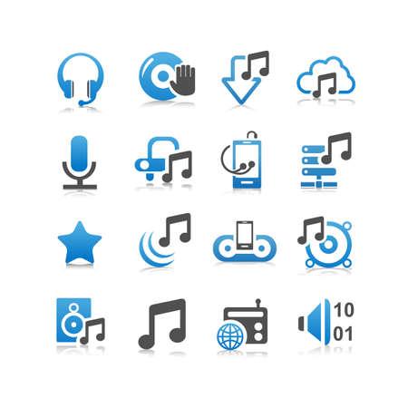 cd recorder: Music icon set - Flat Series
