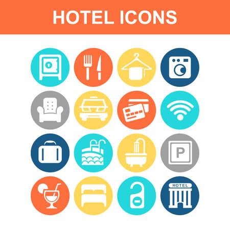 hotel icon set: Hotel icon set - Flat Series