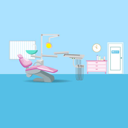 dentist cartoon: cartoon dental office, great for your design