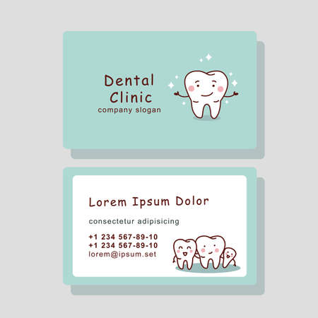 surgery doctor: cute cartoon tooth business card, great for your design