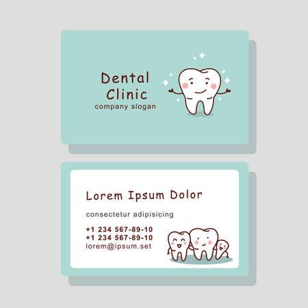 telefono caricatura: tarjeta de visita del diente de dibujos animados lindo, perfecto para su dise�o