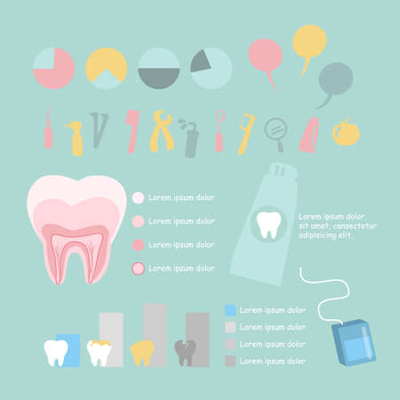 root canal: Dental health care infographic, great for health dental care concept