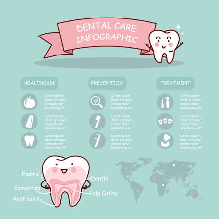 dentin: Dental health care infographic, great for health dental care concept