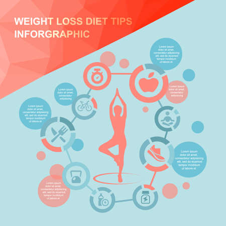 inforgraphic: weight loss diet tips inforgraphic,great for health care concept