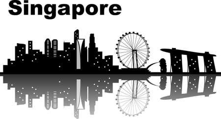 singapore city: Singapore city skyline - great for your design