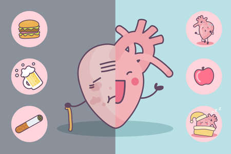 before: Before and after heart, great for health care concept