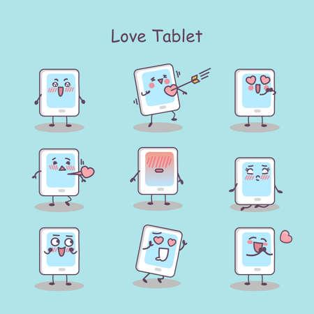 digital tablet: Love cartoon digital tablet pc set, great for your design
