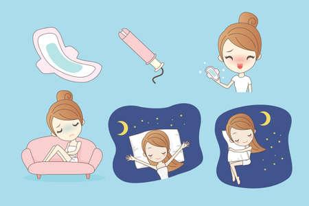 menstruacion: la protecci�n de la mujer la higiene, la menstruaci�n, toallas sanitarias, mujer d�as cr�ticos, ciclo de la menstruaci�n, gran concepto de la salud