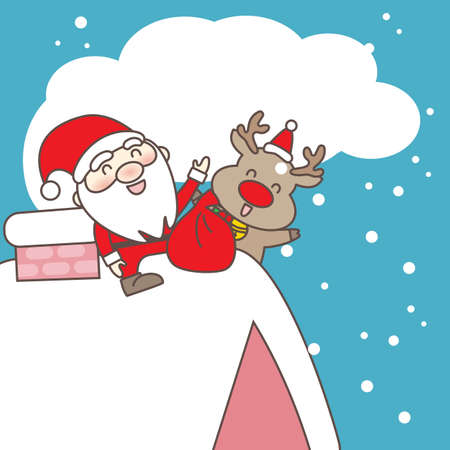 santa moose: Merry christmas day, great for your design Illustration