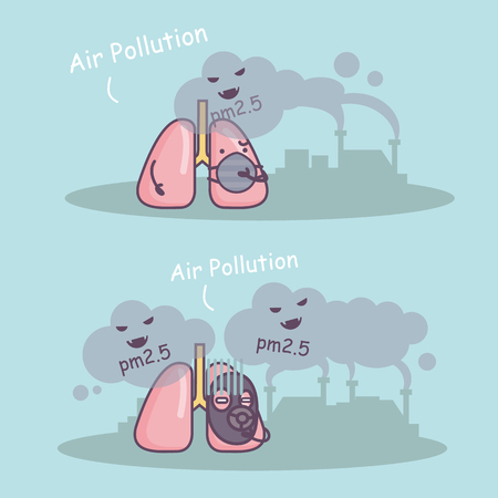 pm: PM 2.5 is unhealthy to lung, great for health care concept