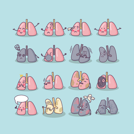 all kinds of lung , great for health care concept Vector Illustration