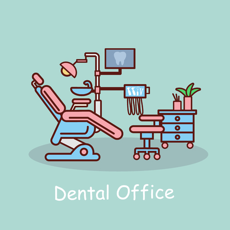 cartoon dental office, great for your design