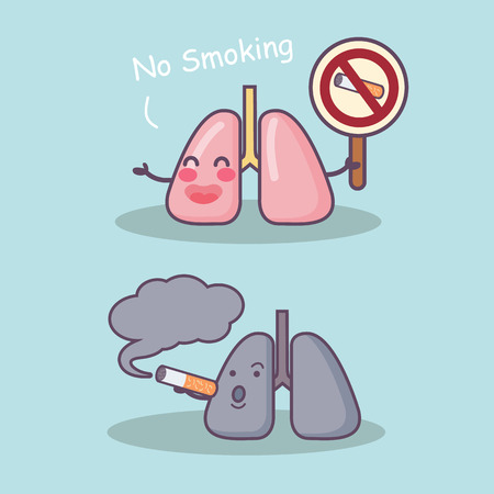 Smoke damage your lung, great for health care concept Illustration