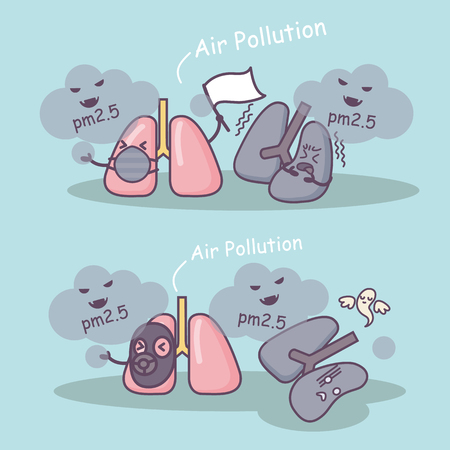 PM 2.5 is unhealthy to lung, great for health care concept