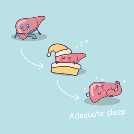 adequate sleep is good for liver,  great for health care concept