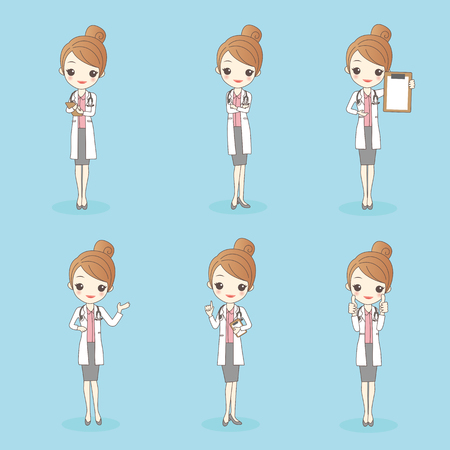 cartoon beauty woman doctor, great for your design