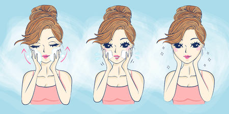 cartoon woman skin care,great for your design Illustration