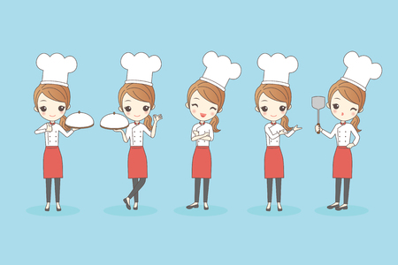 Cartoon woman chef, great for your design