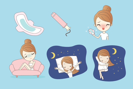 Woman hygiene protection, menstruation, sanitary pads , woman critical days, menstruation cycle, great for health concept