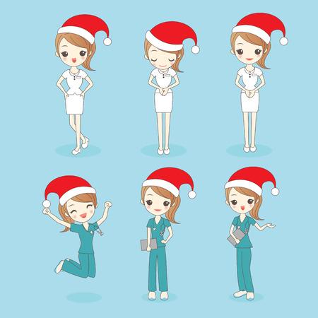 christmas cartoon nurse show something to you