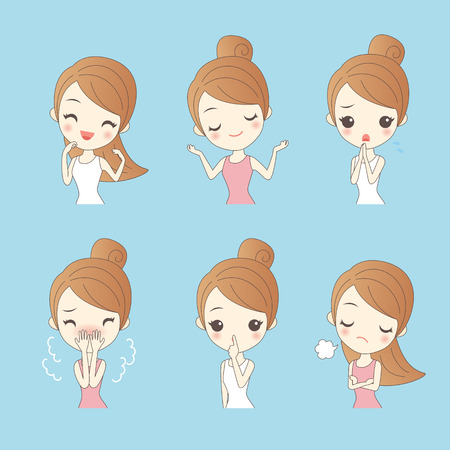 cartoon woman do different expression,great for oyur design