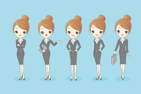 introduce: cartoon business woman set, great for your design