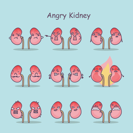 angry cartoon kidney,great for your concept