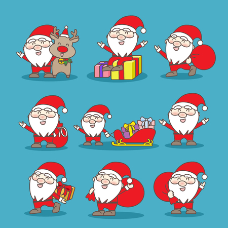 happy Santa Claus , great for your design Illustration