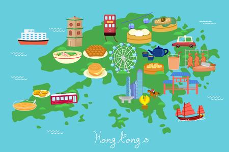Hong Kong travel element - great for Hong Kong travel concept