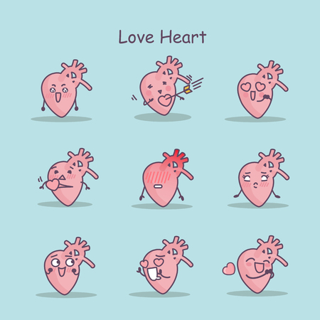 Love cartoon Heart set, great for your design Illustration