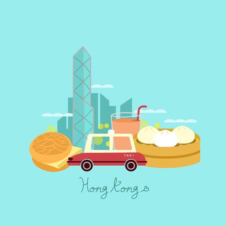hong: Hong Kong travel element - great for Hong Kong travel concept