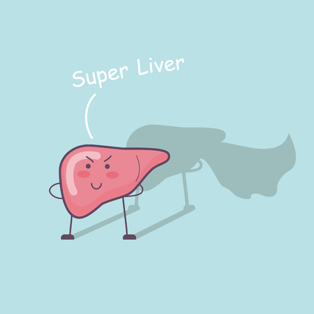Super health liver, great for health care concept