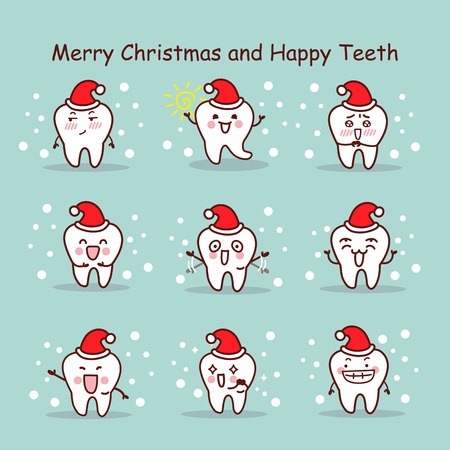tell: merry christmas and happy teeth, great for your design