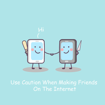 humbug: cartoon smart phone with weapon, great for technology concept design