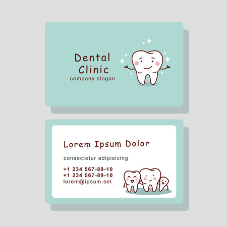 cute cartoon tooth business card, great for your design