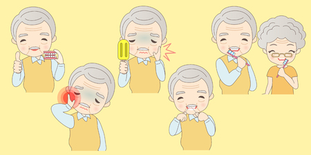 old people dental care problems,great for your deisgn Vector Illustration