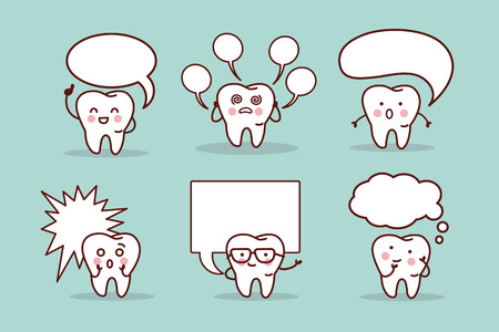 bubble speech: cartoon tooth with speech bubble, great for your design